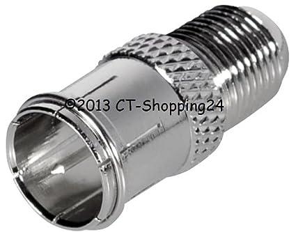 Transmedia - Adaptador para cable coaxial (conector F macho a conector rápido F macho)
