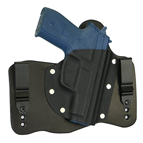 FoxX Holsters Compatible for Sig Sauer P229 No Rail in The Waistband Hybrid Holster Tuckable, Concealed Carry Gun Holster (Black)