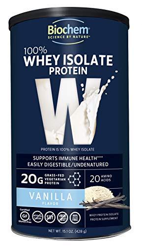 Biochem 100% Whey Protein, Vanilla, 15.1-Ounces