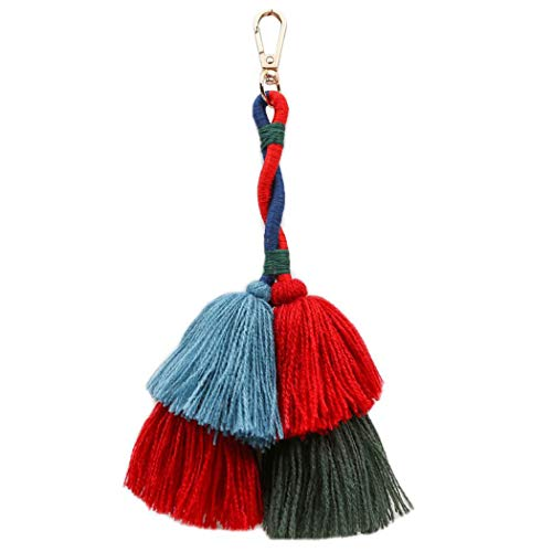 Tassel Keychain Fashion Multipurpose Key Ring Pendant Pom Pom Tassel Bag Charm