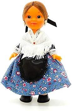 Amazon.es: Folk Artesanía Muñeca Regional colección de 25 cm con Vestido típico Aragonesa Baturra Aragón España.: Juguetes y juegos