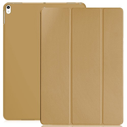 KHOMO iPad Pro 10.5 Inch Case - Dual Gold Super Slim Cover with Rubberized Back and Smart Feature (Built-in Magnet for Sleep/Wake Feature) (Jewel Super Case Slim)