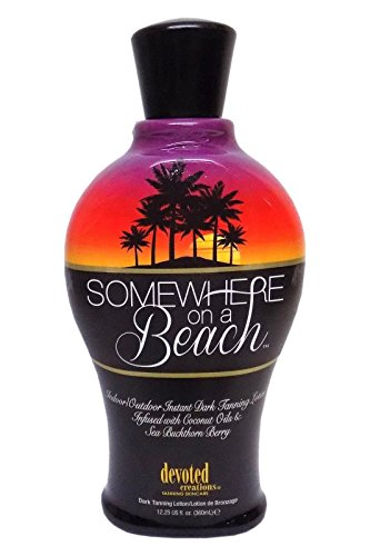 Somewhere on a Beach, Indoor Outdoor, Instant Dark Tanning Lotion 12.25 Ounce