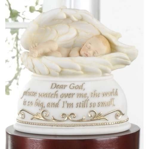 Joseph's Studio Dear God Watch Over Me Baby In Angel Wings Night Light Nightlite 6