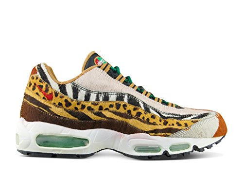 Nike Air Max 95 Supreme Safari Pack x Atmos - Pony/Sprt Red-Cls Grn-Wheat Trainer Multi