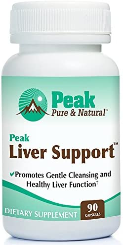 Peak Liver Support by Peak Pure Natural Milk Thistle Based Liver Support Supplement Liver Cleanse and Detox 90 Capsules