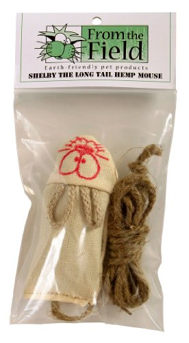 From The Field FFT105 Shelby The Long Tail Hemp Mouse Catnip Toy, My Pet Supplies