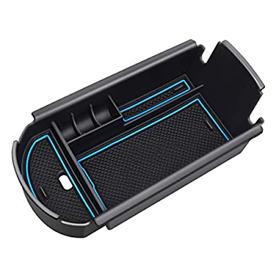 Fits Toyota CHR Center Console Organizer Tray for C-HR 2016-2020 Armrest Storage Holder Container Pallet (Blue): Automotive