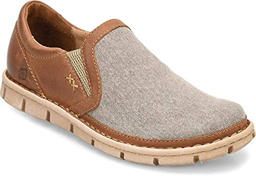 Born Mens Sawyer Leather Closed Toe Slip On Shoes, Brown, Size 11.5
