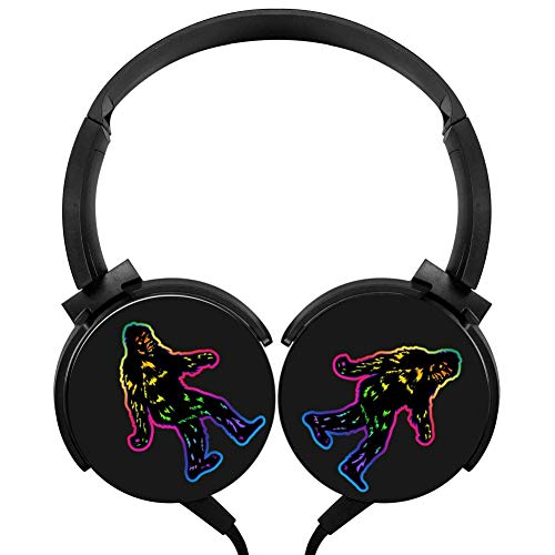 Wired Stereo Rainbow Yeti Headphone Noise Cancelling Over Ear Headphones with Microphone Portable Headset Earphone Earpiece -