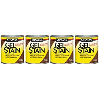 Minwax 260804444 Interior Wood Gel Stain, 1/2 Pint, Brazilian Rosewood - 4 Pack