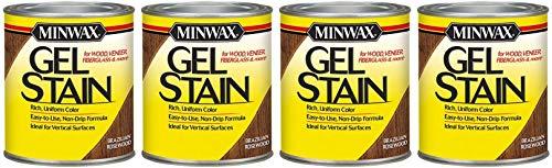 Minwax 260804444 Interior Wood Gel Stain, 1/2 Pint, Brazilian Rosewood - 4 Pack