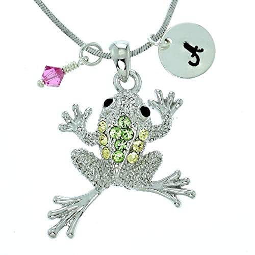 Sparkling Crystal Block Ring Chandelier: Amazon.com: Personalized Frog Green Pendant Sparkling