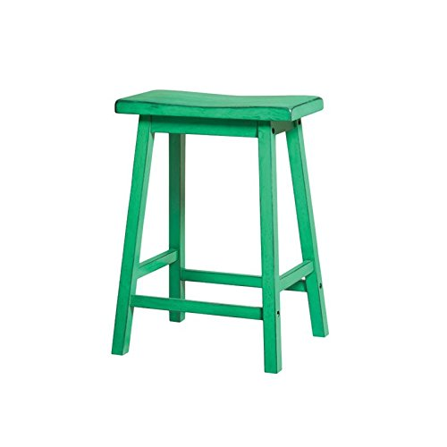 Acme Furniture Gaucho Counter Height Stool (Set of 2), Antique Green Review