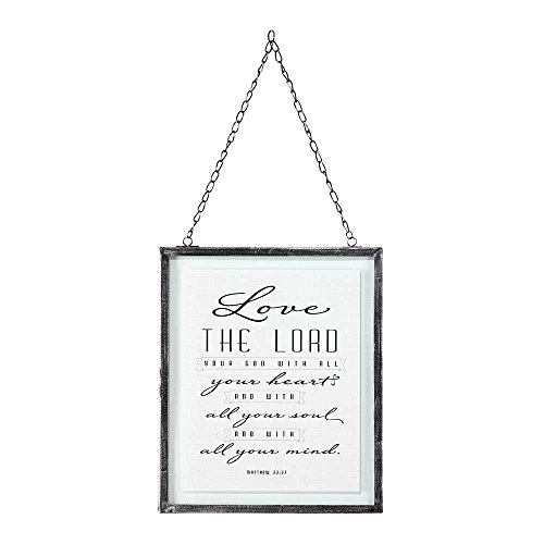 Love The Lord Your God 10 x 8 Framed Glass Wall Art