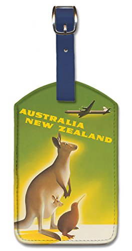 Pacifica Island Art Leatherette Luggage Baggage Tag - Australia New Zealand by Ewart