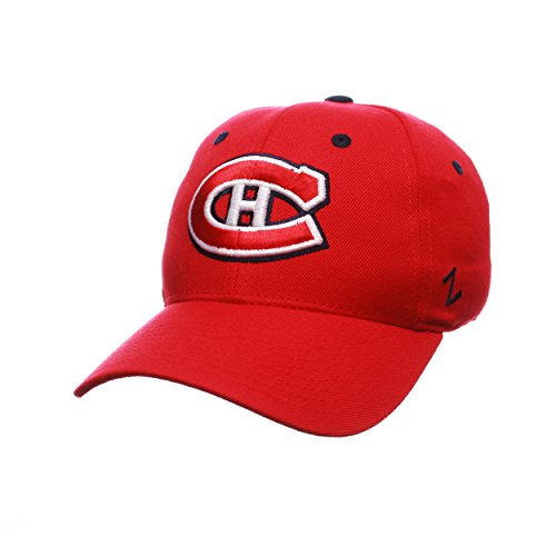 Zephyr NHL Montreal Canadians Men's Power Play Fitted Hat, Size 7, Red (Canadian Wool)
