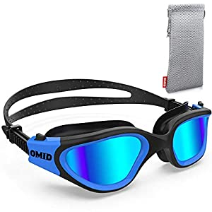 OMID Swim Goggles, Comfortable Polarized Swimming Goggles, Anti-Fog Leak Proof UV Protection Crystal Clear Vision…
