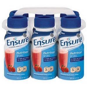 Abbott Nutrition 5257234 Ensure Strawberries & Cream Shake Retail 8Oz. Btl,Abbott Nutrition - Each 1