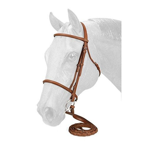 Silver Fox Raised Snaffle Bridle Brown - Tack Pony English