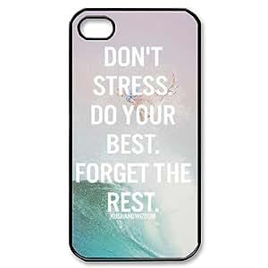Motivational Quotes iPhone 4/4s Case Black Yearinspace004640 Kimberly Kurzendoerfer