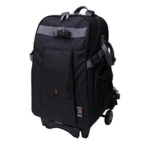 Ape Skate - Ape Case, High-Style, Black, Backpack with Wheels, Camera Bag (ACPRO3500WBK)
