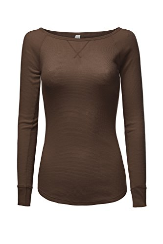 Raglan Long Sleeve Thermal Knit Sporty Tops (Cotton Pocketed Henley T-shirt)