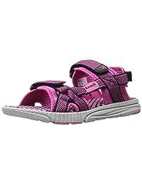 Kamik Girls' Match Sandal, Navy/Magenta, 5 M US Toddler
