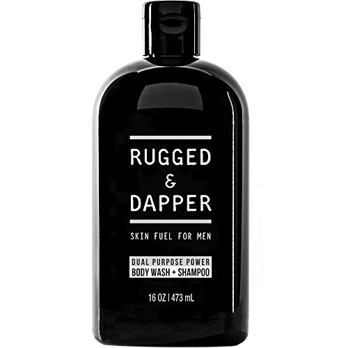 (RUGGED & DAPPER - Shampoo & Body Wash for Men - 16oz - Natural Ingredients Moisturize Hair & Fight Dandruff – All-In-One Head-to-Toe Soap for the Entire Body)