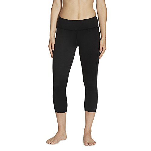 Gaiam Women's Luxe Yoga Capri Solid, Black, Small