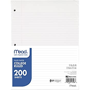 Amazon.com : Five Star Reinforced Filler Paper, College Ruled ...