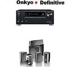Onkyo TX-RZ630 9.2 Channel 4K Network A/V Receiver Black + Definitive Technology Pro Cinema 800 System Black Bundle