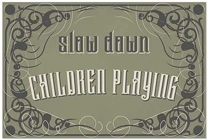 Slow Down Children Playing 27x18 CGSignLab 5-Pack Victorian Gothic Window Cling