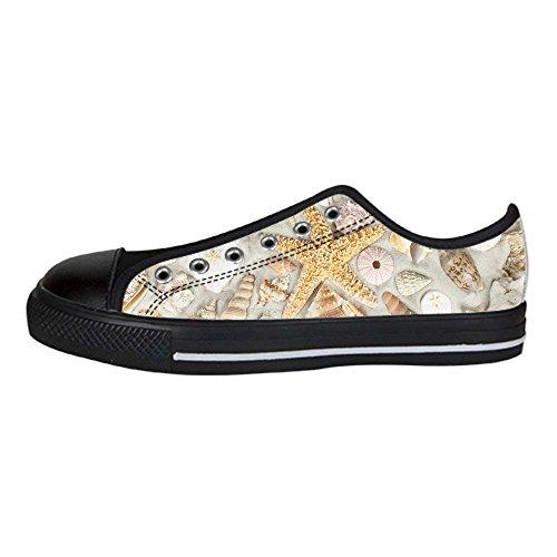 Tela Canvas Men's Le Shoes Marine Spiaggia I Scarpe Delle Da Custom In Ginnastica Lacci Stelle Di Alto Sopra TxpCqnB
