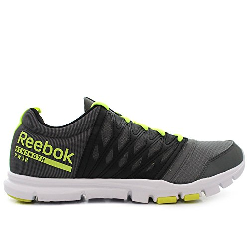 Reebok - Yourflex Train RS 5 - Color: Black-Grey-Yellow - Size: 10.5
