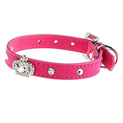 fitTek® FACILLA Collar Correa Cuello Ajustable para Perros Gatos Mascotas Talla XS Fu...