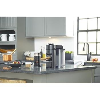 Nespresso by De'Longhi ENV135BAE Coffee and Espresso Machine Bundle with Aeroccino Milk Frother by De'Longhi, Black