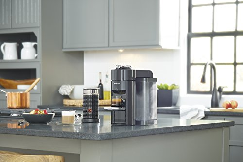 Nespresso by De'Longhi ENV135BAE and Espresso Machine Bundle with Aeroccino Frother by De'Longhi, Black