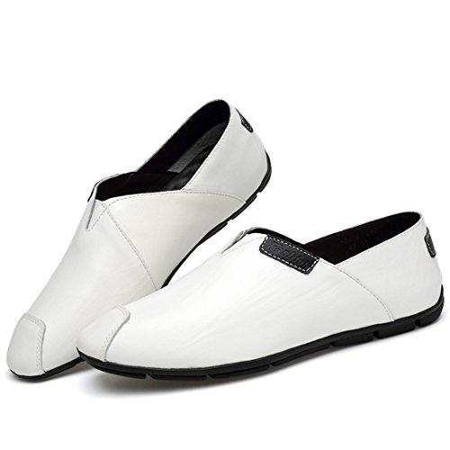 Minitoo LHUS-LH909A, Mocassins Pour Homme - Blanc - Blanc, 39