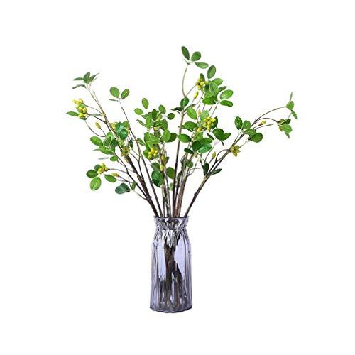 (Woooow 4Pack Faux Seeded Eucalyptus Leaves Fake Artificial Eucalyptus Stems Bulk in Green 30