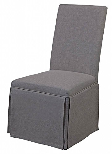 (Bassett Mirror Company 39 in. Skirted Parsons Chair - Set of 2)