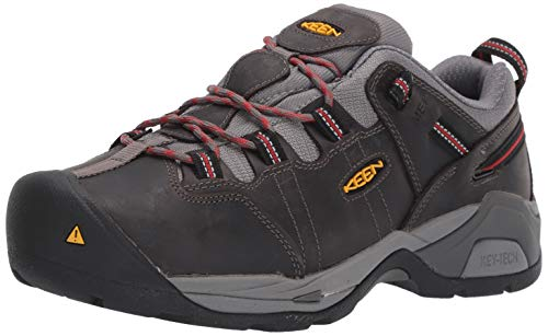 KEEN Utility Men's Detroit XT (Steel Toe) Internal Met Guard Work Boot for Construction Industrial Grey/Bossa Nova, 10.5 D US