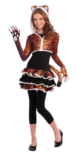 Rubie's Drama Queens Tween Tigress Costume - Tween Medium (Tiger Girl Costume)