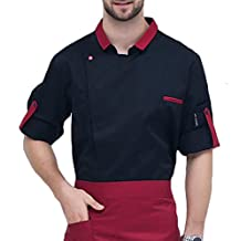 ONTBYB Men's Fashion Chef Jacket Fit Chef Coat