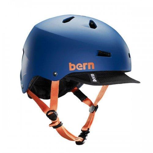 Bern Macon Helmet w/Visor Matte Blue, M