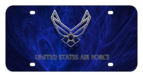 Air Force Plate - L175 USAF AIR FORCE EAGLE License Plate Front Custom Novelty Tag Vanity Frame Holder Wrap Wraps