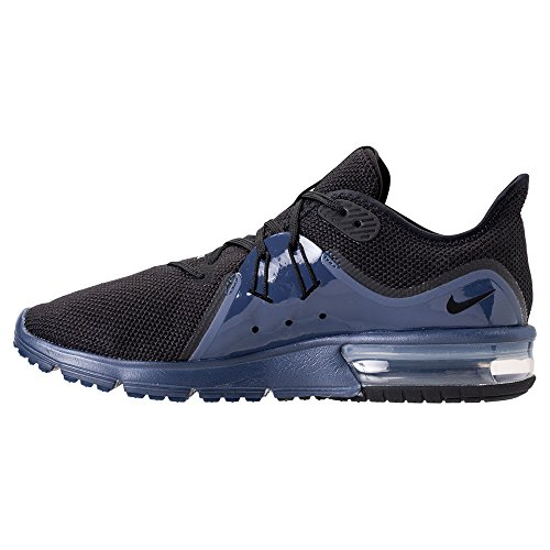 NIKE Air Max Sequent 3 S Running Shoes Black/Black-navy Blue-white shopping online buy cheap largest supplier cheap sale clearance discount online tABEcd