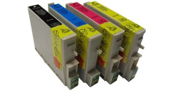 Set – 4 cartuchos de impresora para Epson T 0711, T 0712, T 0713 ...