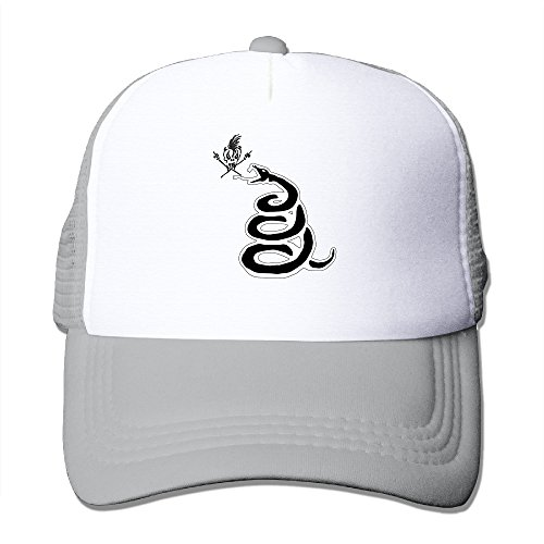 (SAXON13 Unisex Baseball-caps Mesh Back Metal Lica Snake And Skull Cap Hats)