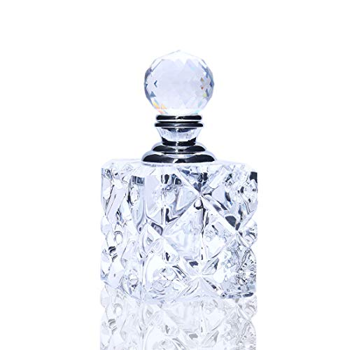 H&D Clear Cubic Carved Decor Refillable Perfume Bottle